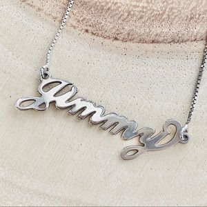 Vintage | 80's Style Name Plate Neckless (Jimmy)